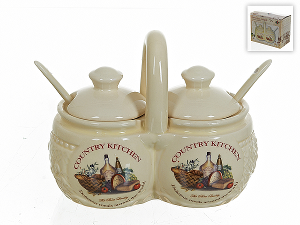 {} Polystar Набор для специй Country Kitchen (9х13х16 см) купить
