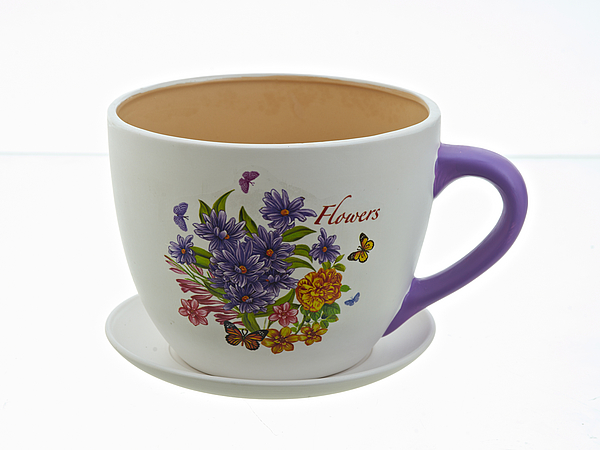 {} Polystar Горшок с поддоном Flowers-Toledo (17х21 см) polystar кружка романс 310 мл