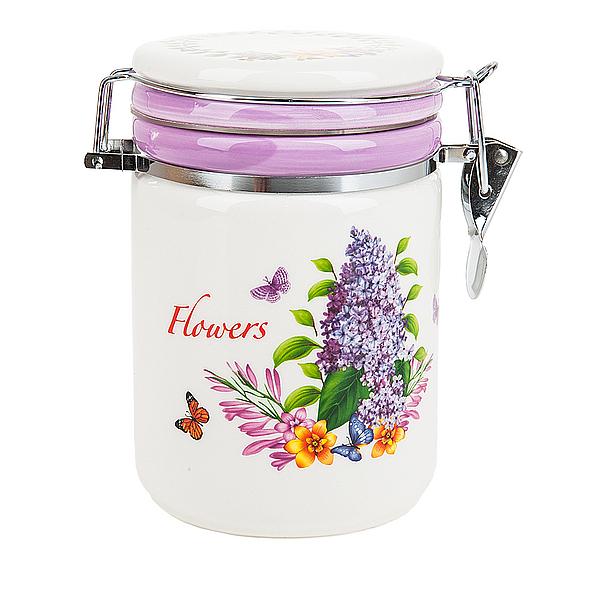 {} Polystar Банка для сыпучих Flowers-Amanteya (16 см) парфюмированная вода montale orange flowers 20 мл