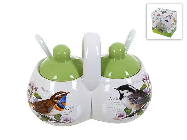 {} Polystar Банка для специй (двойная) Birds (9х12х16 см) банка 600 мл polystar банка 600 мл