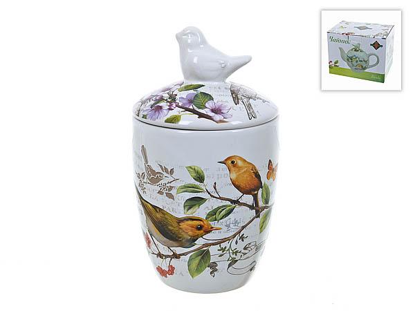 {} Polystar Банка для сыпучих Birds (9х17 см) imari банка для сыпучих продуктов магнолия