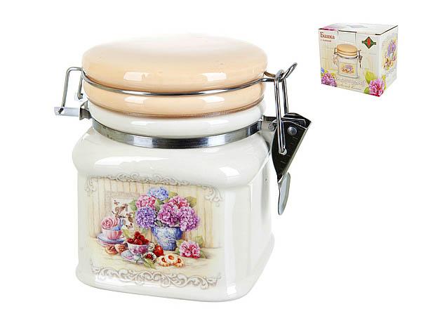 {} Polystar Банка для сыпучих Sweet Home (9х9х12 см) банка для сыпучих продуктов polystar sweet home 850 мл