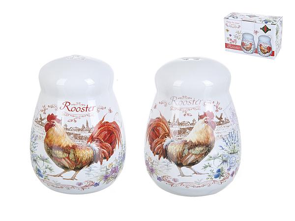 {} Polystar Набор для специй Rooster (6х8 см - 2 шт) набор для специй terracotta дерево жизни