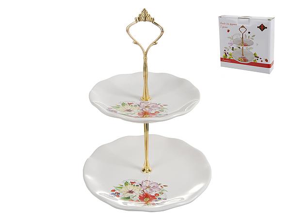 {} Polystar Тарелка-этажерка Summer (19х26 см) polystar тарелка этажерка садовая ягода 18х24 см