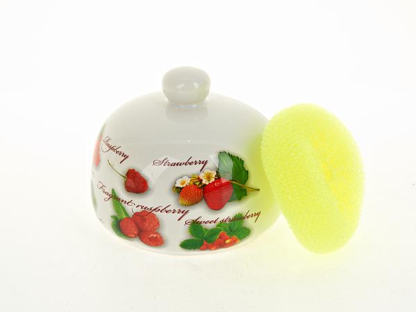 {} Polystar Подставка для губки Садовая Ягода (11х12 см) polystar кружка садовая ягода 360 мл