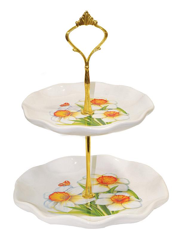 {} Polystar Тарелка-этажерка Нарцисс (18х24 см) polystar тарелка этажерка садовая ягода 18х24 см