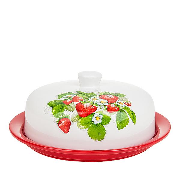 {} Polystar Блюдо для блинов Клубника (10х24 см) блюдо для блинов 24 5х28х3 см best home porcelain блюдо для блинов 24 5х28х3 см page 9