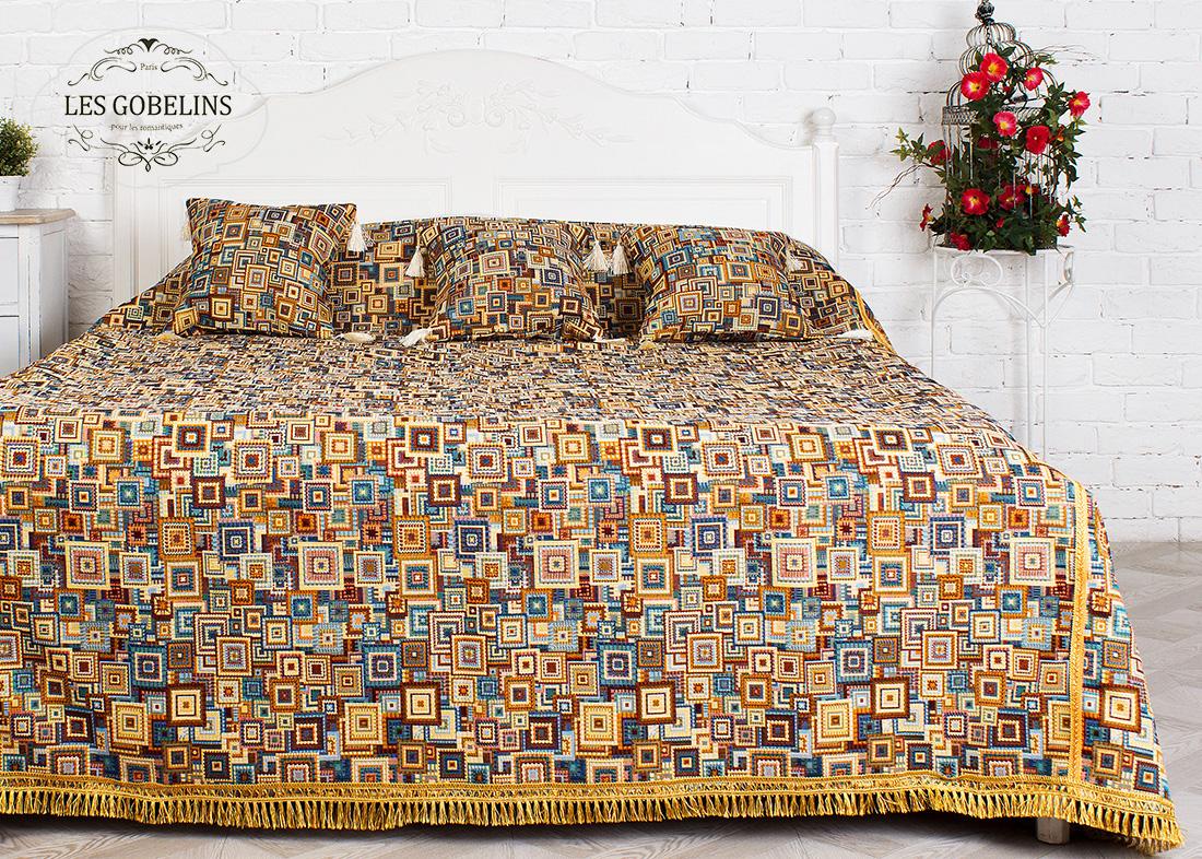 где купить Покрывало Les Gobelins Покрывало на кровать Collage geometrique (130х220 см) по лучшей цене