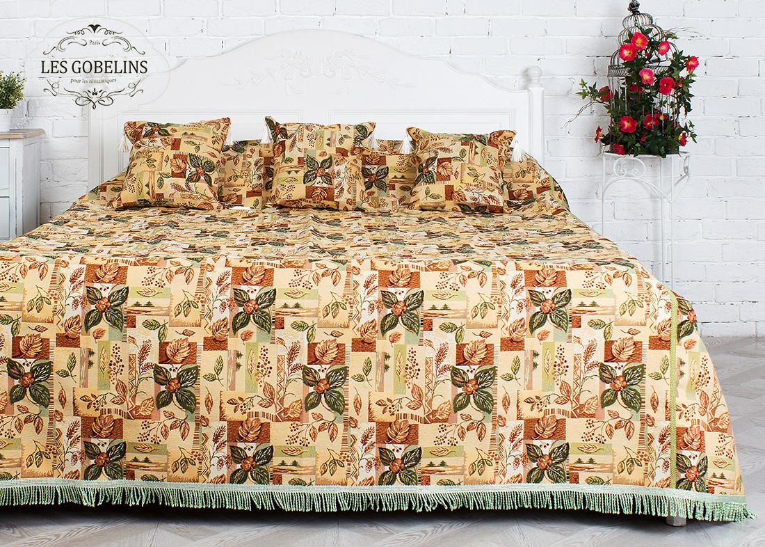 где купить Покрывало Les Gobelins Покрывало на кровать Autumn collage (130х220 см) по лучшей цене