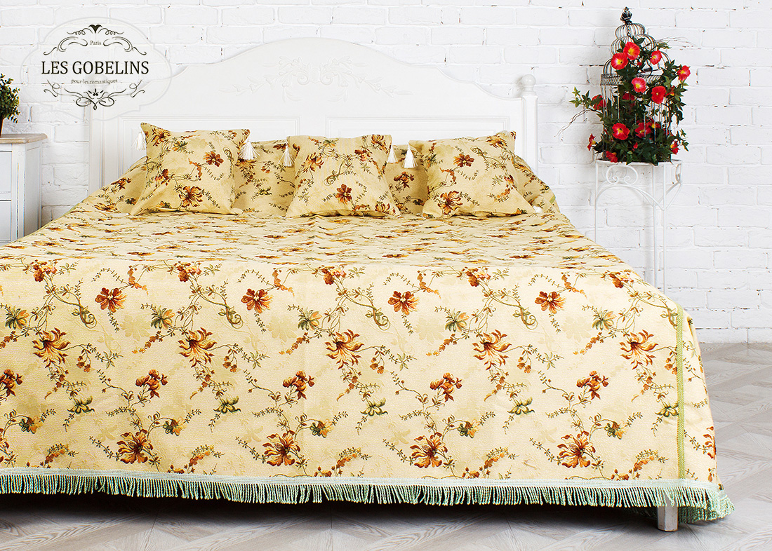 Покрывало Les Gobelins Покрывало на кровать Cartomancienne (230х230 см) желтое покрывало на кровать