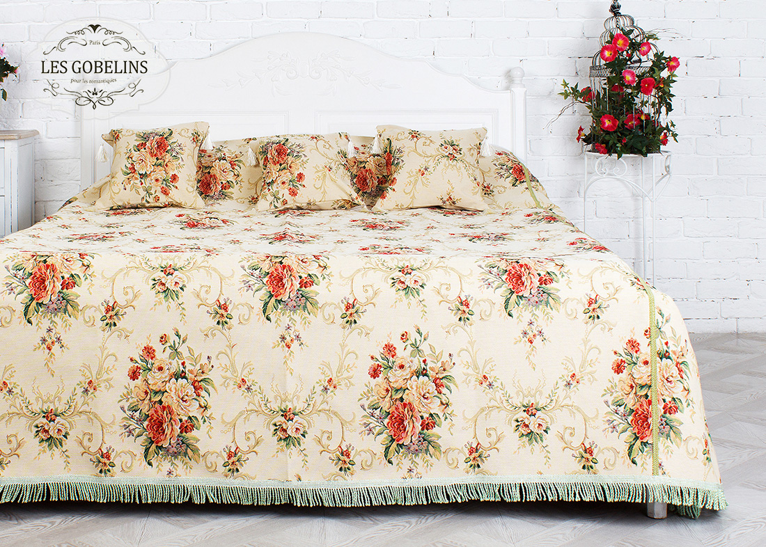 Покрывало Les Gobelins Покрывало на кровать Loire (230х230 см) желтое покрывало на кровать