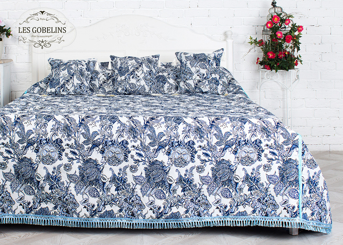 Покрывало Les Gobelins Покрывало на кровать Grandes fleurs (210х220 см) покрывало les gobelins покрывало на кровать grandes fleurs 140х230 см