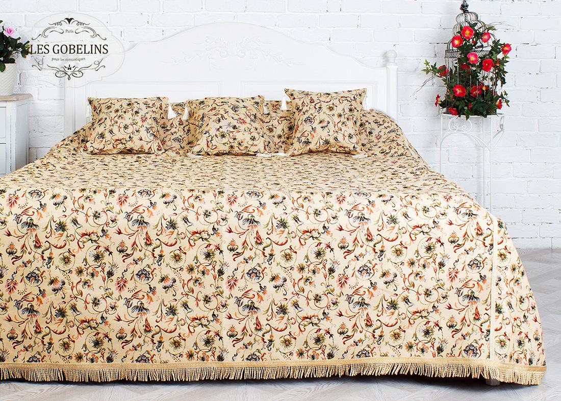где купить Покрывало Les Gobelins Покрывало на кровать Fleurs anglais (210х220 см) по лучшей цене