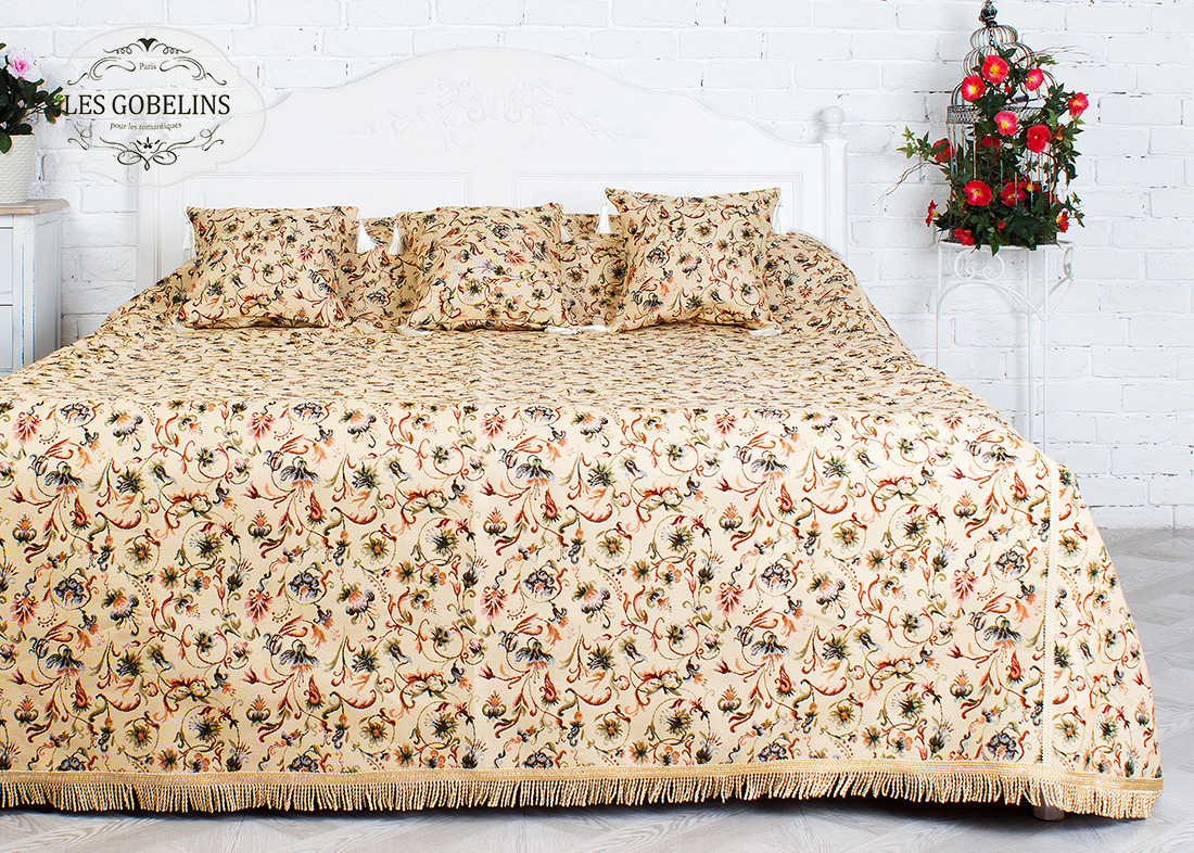 где купить Покрывало Les Gobelins Покрывало на кровать Fleurs anglais (140х230 см) по лучшей цене
