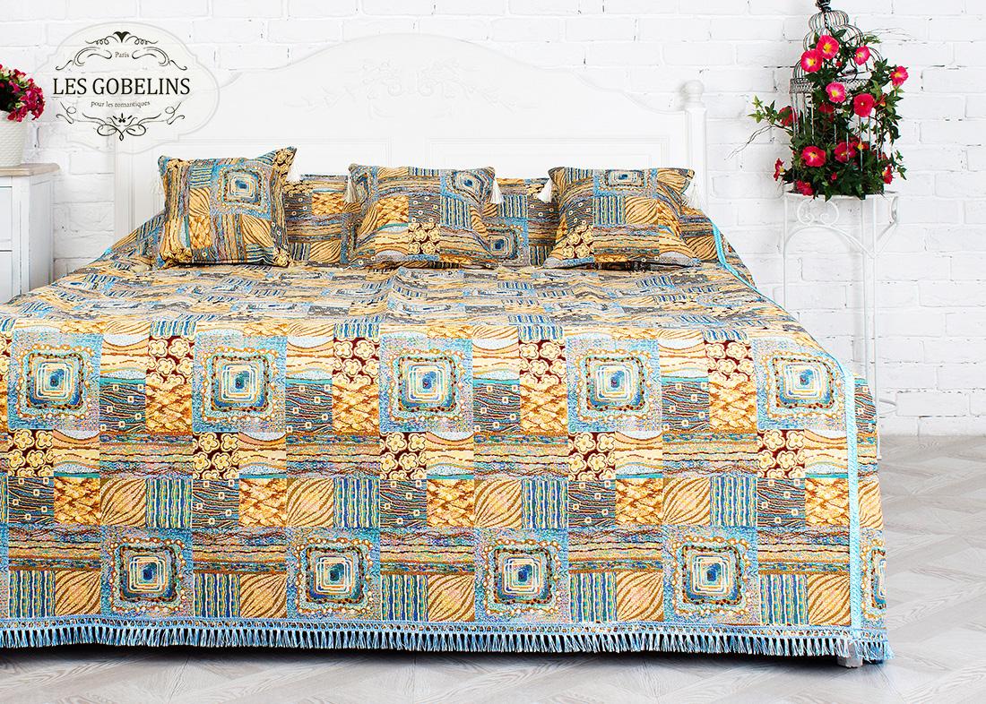 Покрывало Les Gobelins Покрывало на кровать Patchwork (230х230 см) желтое покрывало на кровать