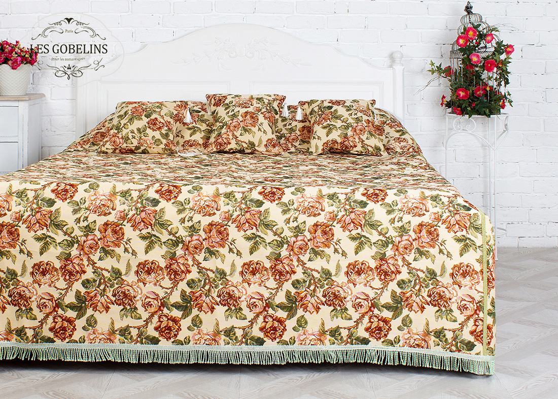 Покрывало Les Gobelins Покрывало на кровать Rose vintage (190х220 см)