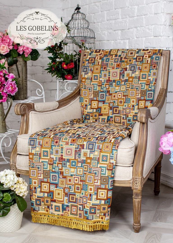 Покрывало Les Gobelins Накидка на кресло Collage geometrique (90х200 см)