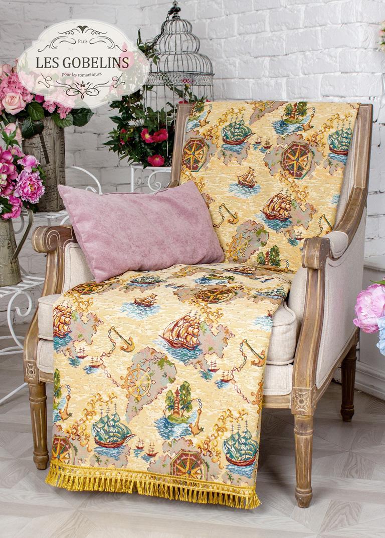 где купить Детские покрывала, подушки, одеяла Les Gobelins Детская Накидка на кресло Bateaux (50х160 см) по лучшей цене