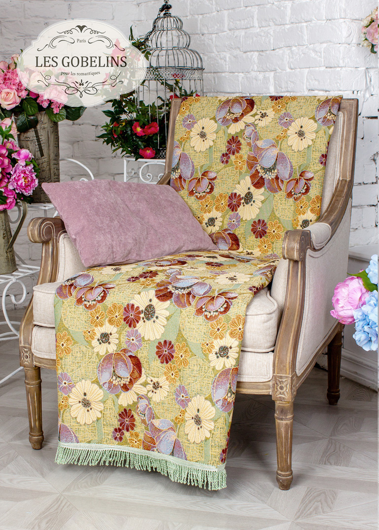где купить Покрывало Les Gobelins Накидка на кресло Fantaisie (50х130 см) по лучшей цене