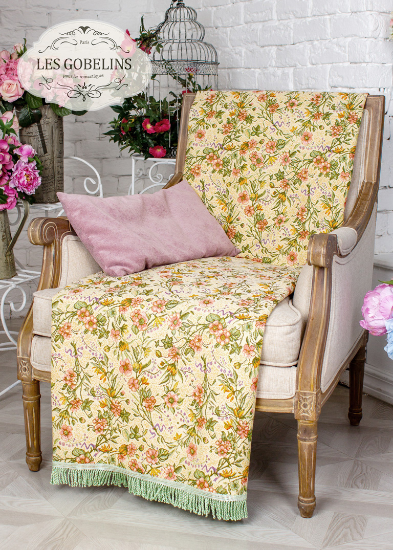 где купить Покрывало Les Gobelins Накидка на кресло Humeur de printemps (50х140 см) по лучшей цене
