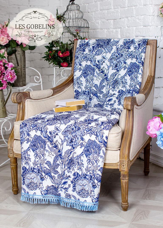 где купить Покрывало Les Gobelins Накидка на кресло Grandes fleurs (90х190 см) по лучшей цене