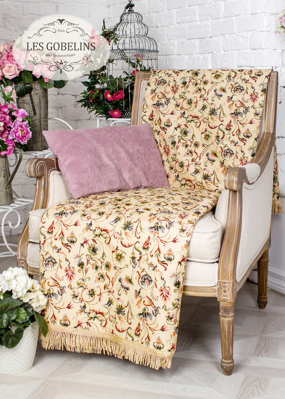 Покрывало Les Gobelins Накидка на кресло Fleurs anglais (50х120 см)