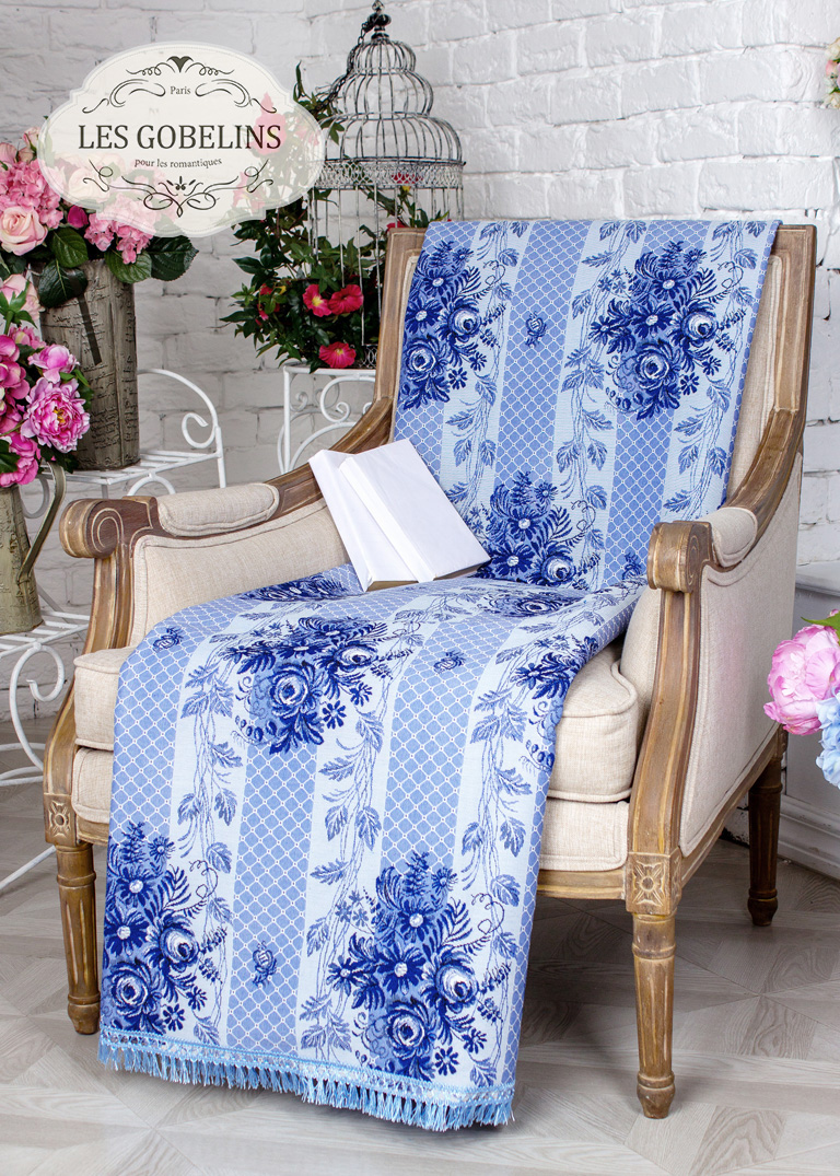 Покрывало Les Gobelins Накидка на кресло Gzhel (90х160 см)
