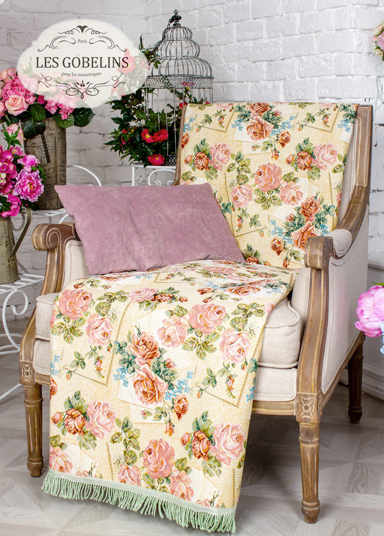 где купить Покрывало Les Gobelins Накидка на кресло Rose delicate (60х150 см) по лучшей цене