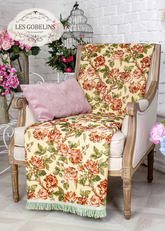 где купить Покрывало Les Gobelins Накидка на кресло Rose vintage (70х130 см) по лучшей цене