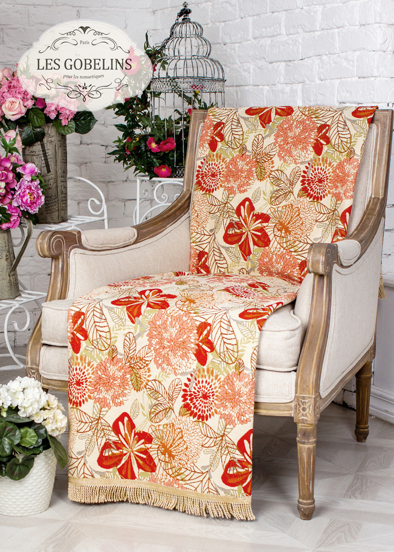 где купить Покрывало Les Gobelins Накидка на кресло Fleurs vector (50х140 см) по лучшей цене