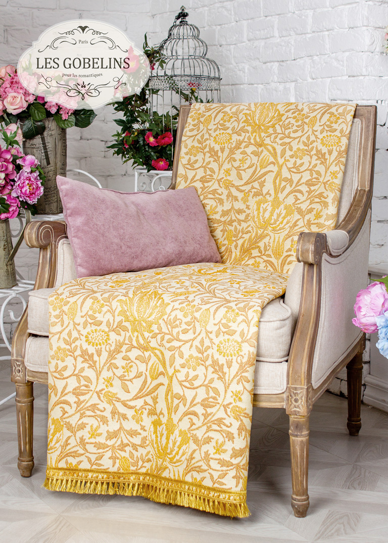 Покрывало Les Gobelins Накидка на кресло Paroles or (80х170 см) покрывало les gobelins накидка на кресло paroles or 100х170 см