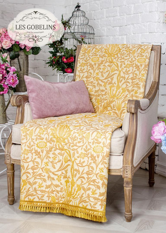 Покрывало Les Gobelins Накидка на кресло Paroles or (90х190 см) покрывало les gobelins накидка на кресло paroles or 100х170 см