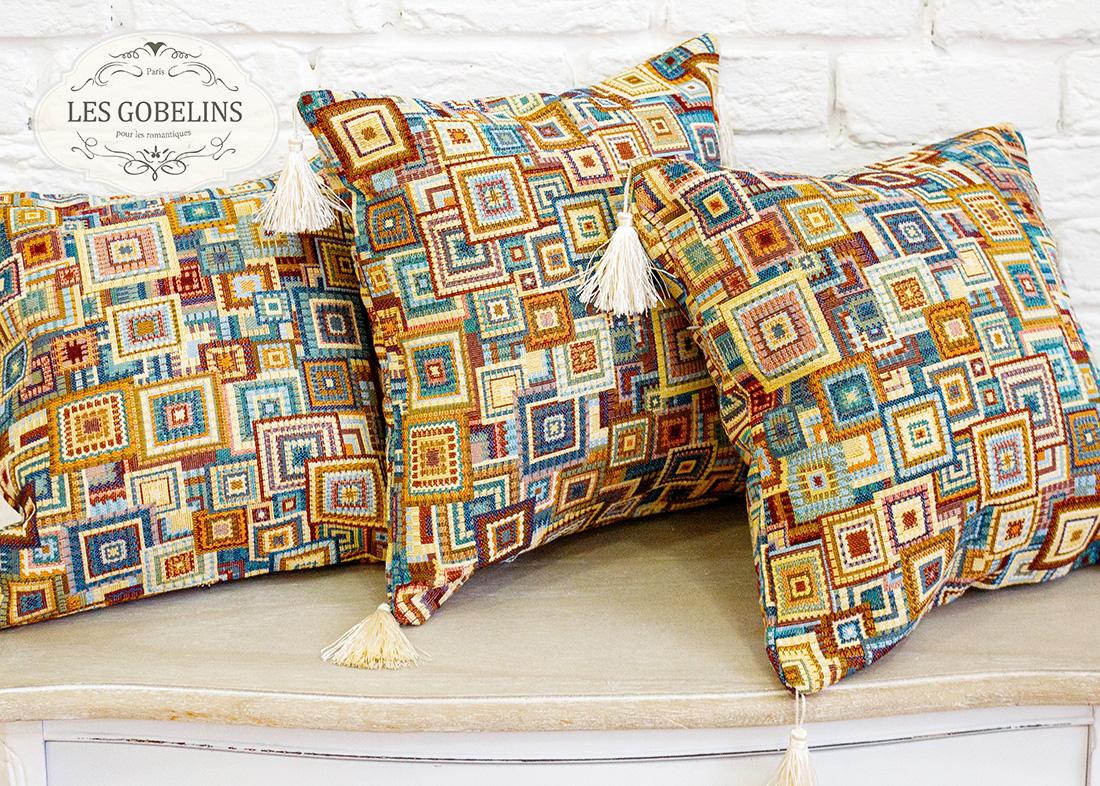 Декоративные подушки Les Gobelins Декоративная наволочка Collage geometrique (40х40)
