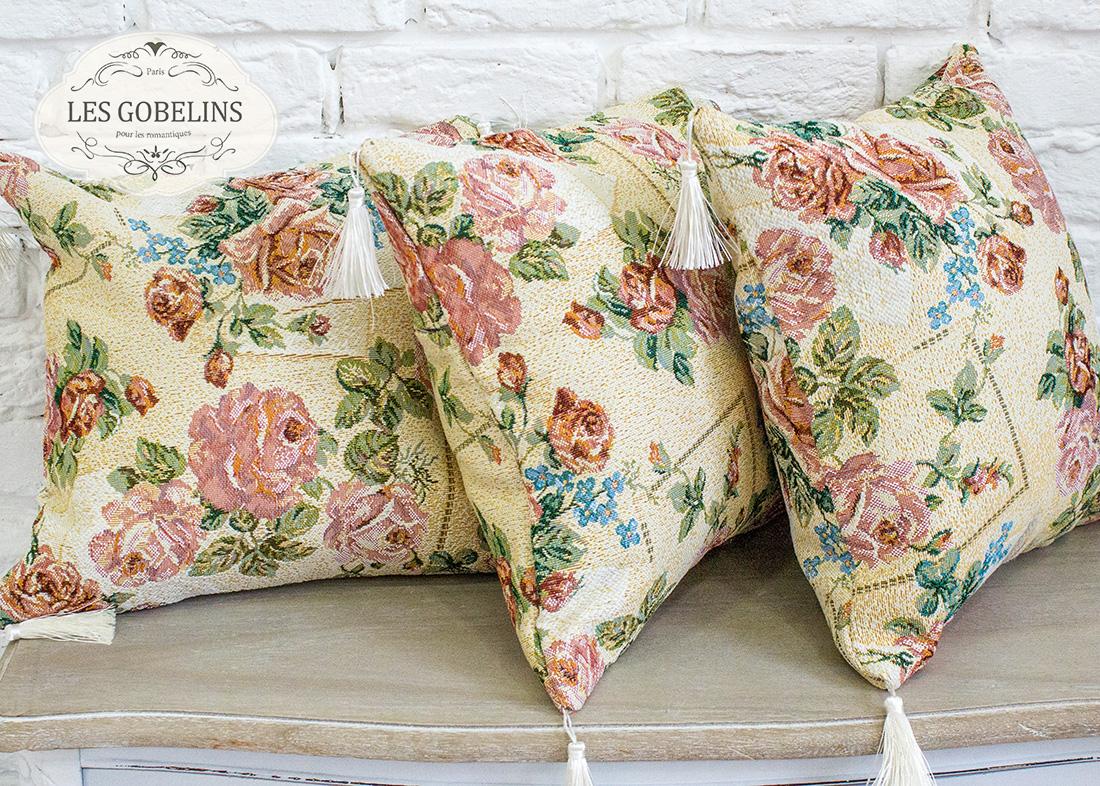 Декоративные подушки Les Gobelins Декоративная наволочка Rose delicate (40х40)