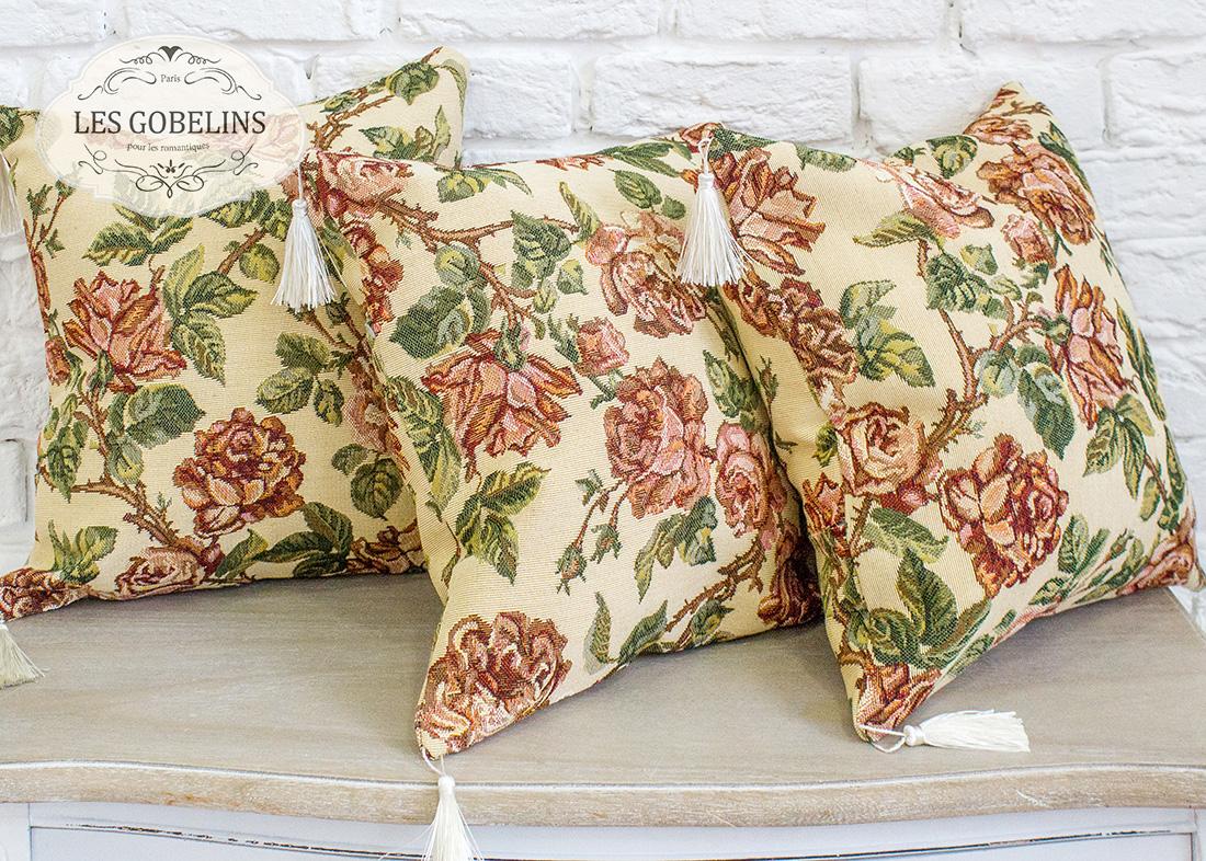 Декоративные подушки Les Gobelins Декоративная наволочка Rose vintage (40х40)