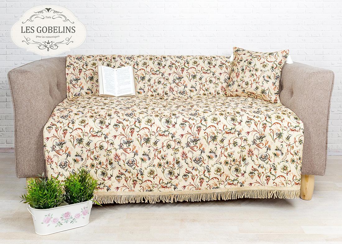где купить Покрывало Les Gobelins Накидка на диван Fleurs anglais (130х230 см) по лучшей цене