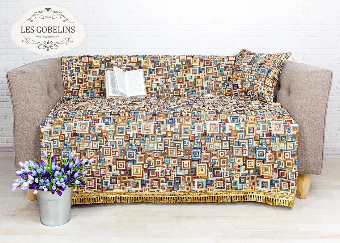 где купить Покрывало Les Gobelins Накидка на диван Collage geometrique (160х160 см) по лучшей цене