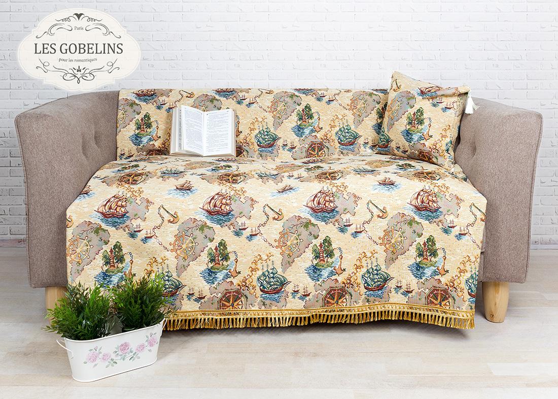 где купить Детские покрывала, подушки, одеяла Les Gobelins Детская Накидка на диван Bateaux (160х160 см) по лучшей цене
