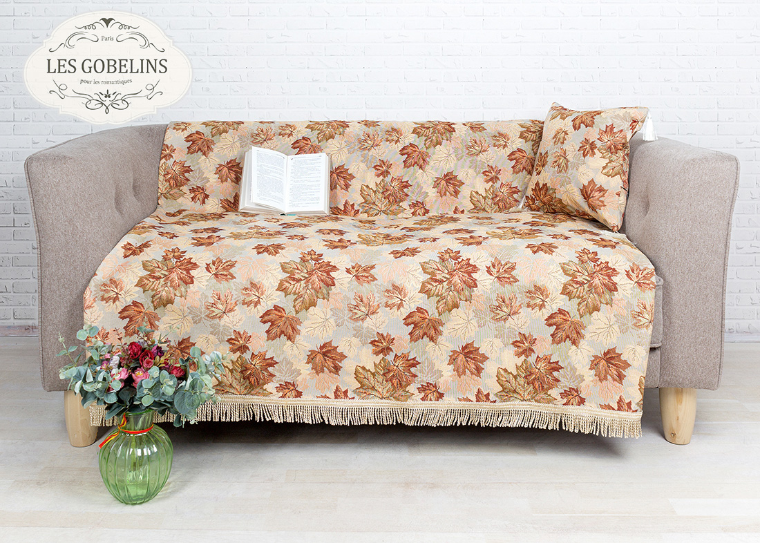 где купить Покрывало Les Gobelins Накидка на диван Boston Waltz (130х220 см) по лучшей цене