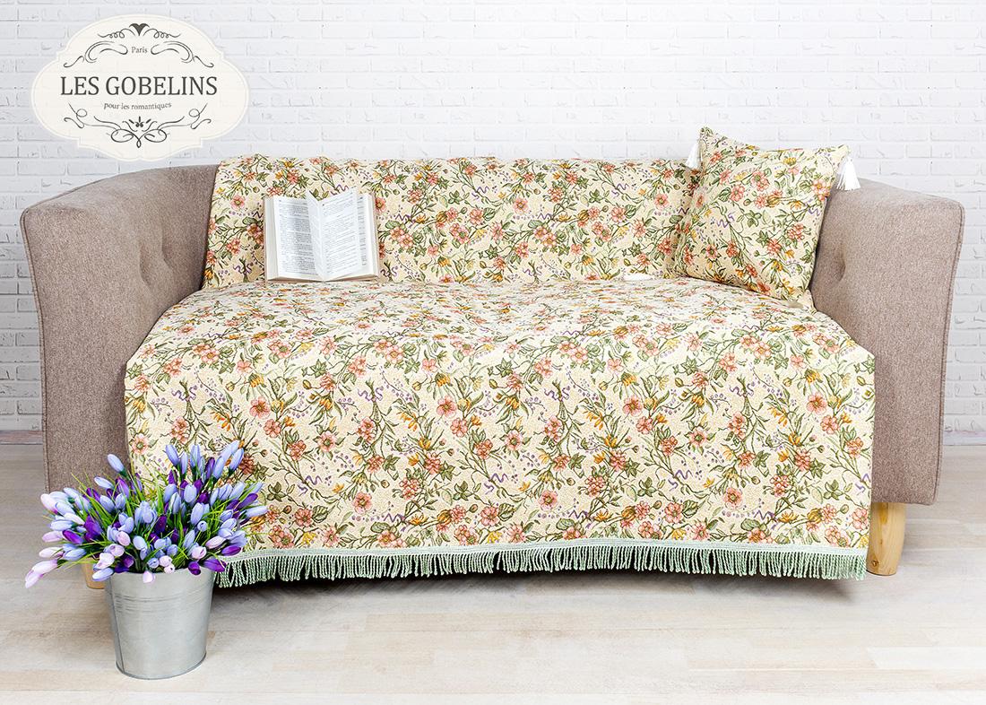 где купить Покрывало Les Gobelins Накидка на диван Humeur de printemps (140х210 см) по лучшей цене
