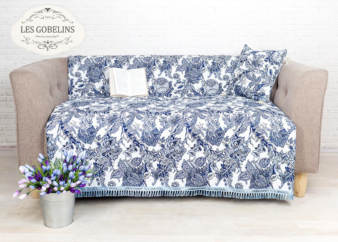 где купить Покрывало Les Gobelins Накидка на диван Grandes fleurs (140х180 см) по лучшей цене