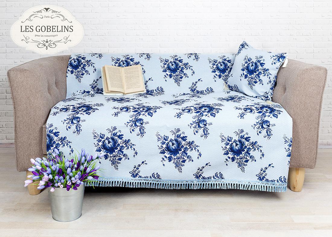где купить Покрывало Les Gobelins Накидка на диван Gzhel (150х190 см) по лучшей цене
