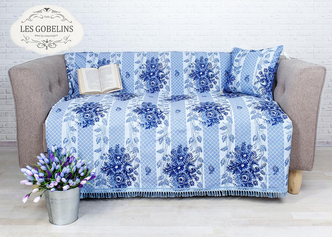 где купить Покрывало Les Gobelins Накидка на диван Gzhel (140х160 см) по лучшей цене