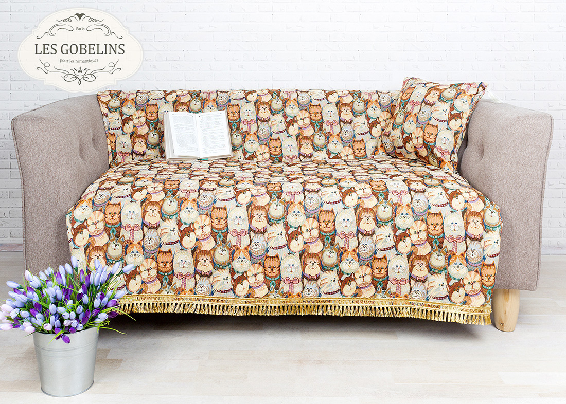 где купить Детские покрывала, подушки, одеяла Les Gobelins Детская Накидка на диван Minou (140х170 см) по лучшей цене