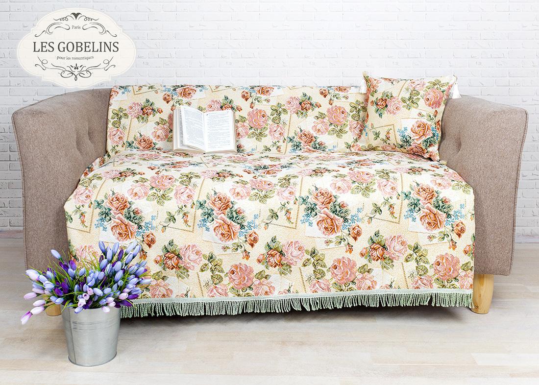 где купить Покрывало Les Gobelins Накидка на диван Rose delicate (160х160 см) по лучшей цене