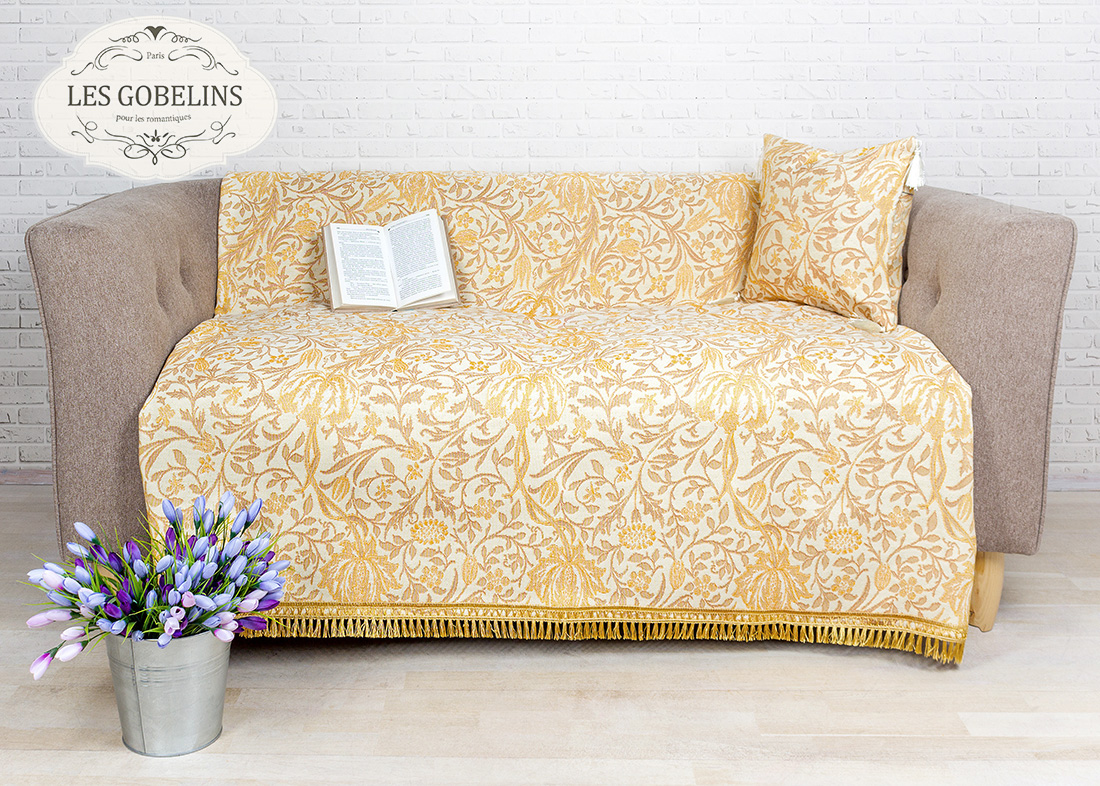 Покрывало Les Gobelins Накидка на диван Paroles or (130х190 см) покрывало les gobelins накидка на кресло paroles or 100х170 см