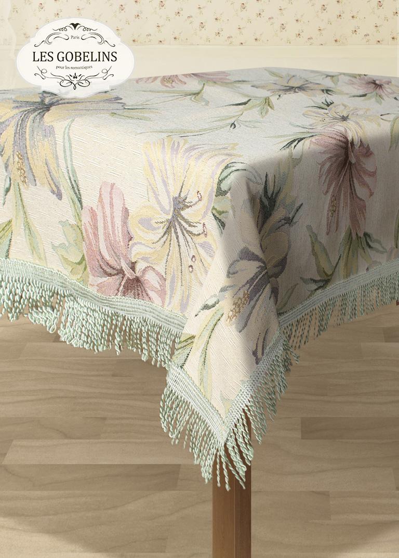 Скатерти и салфетки Les Gobelins Скатерть Perle lily (150х230 см) скатерть прямоугольная 150х230 niklen скатерть прямоугольная 150х230
