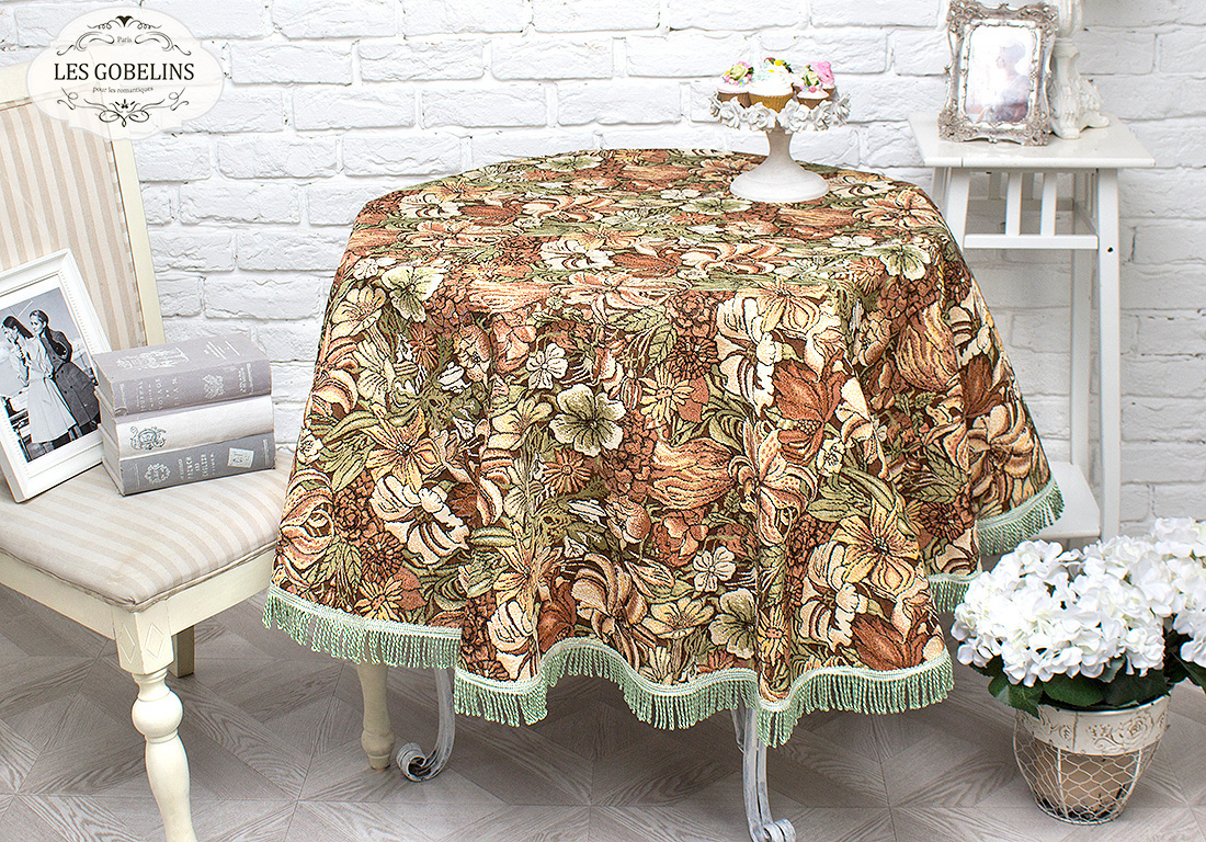 Скатерти и салфетки Les Gobelins Скатерть Art Nouveau Lily (круглая 140 см) tarot art nouveau таро галерея в футляре улучшенная твердая бумага