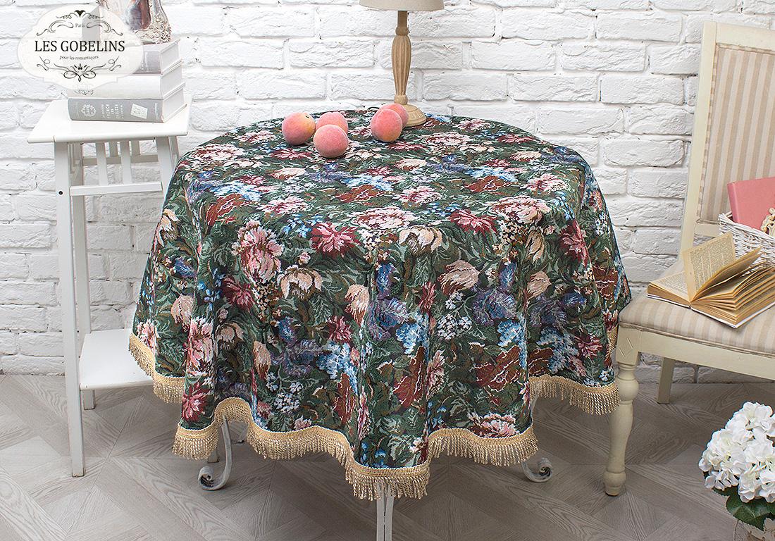 Скатерти и салфетки Les Gobelins Скатерть Jardin DAmerique (круглая 110 см) скатерти и салфетки karna скатерть leda цвет бордовый круглая 160 см