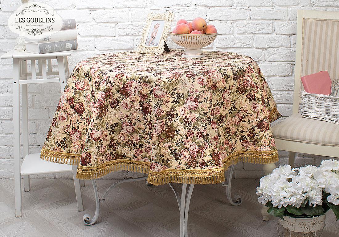 Скатерти и салфетки Les Gobelins Скатерть Bouquet Francais (круглая 90 см) скатерти и салфетки karna скатерть leda цвет бордовый круглая 160 см